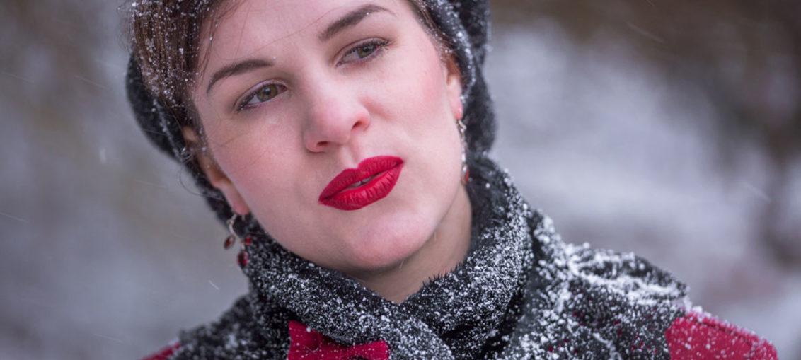 Super einfache Winter-Frisuren im Retro-Stil, die Wind und Wetter standhalten