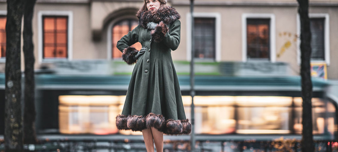 Elegant vintage inspired winter coats for cold days
