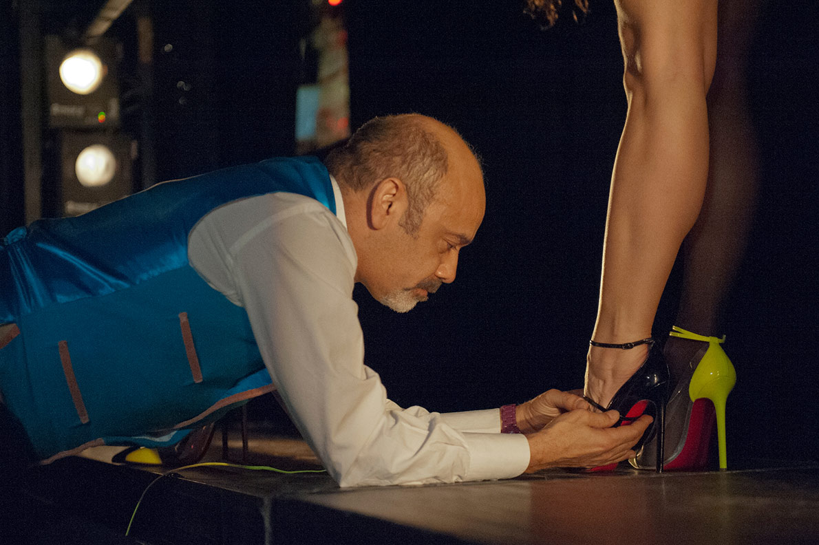 Christian Louboutin im Crazy Horse Paris
