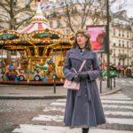 Winter-Outfits für Paris: Grauer Mantel und Thermostrumpfhose