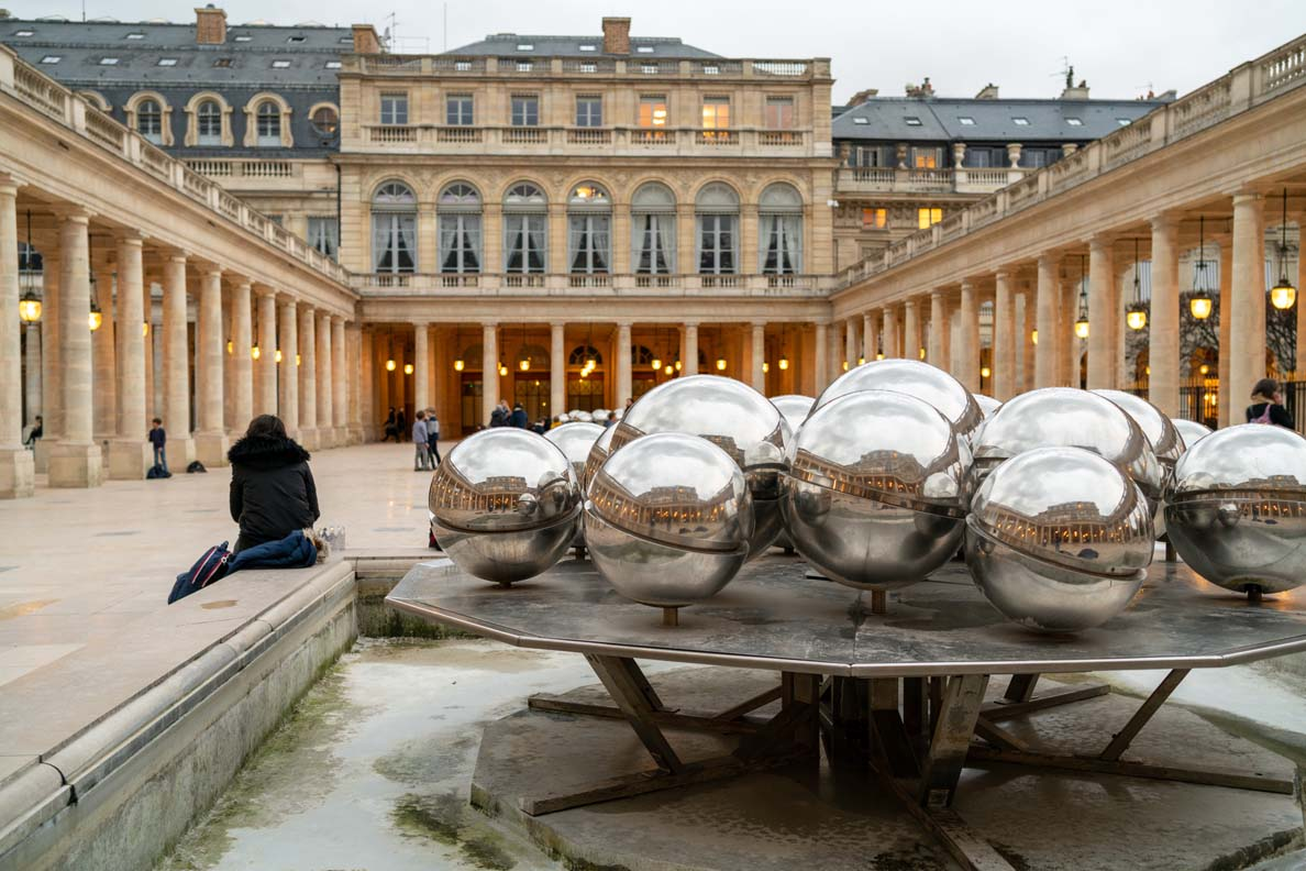 Der Jardin du Palais Royal in Paris