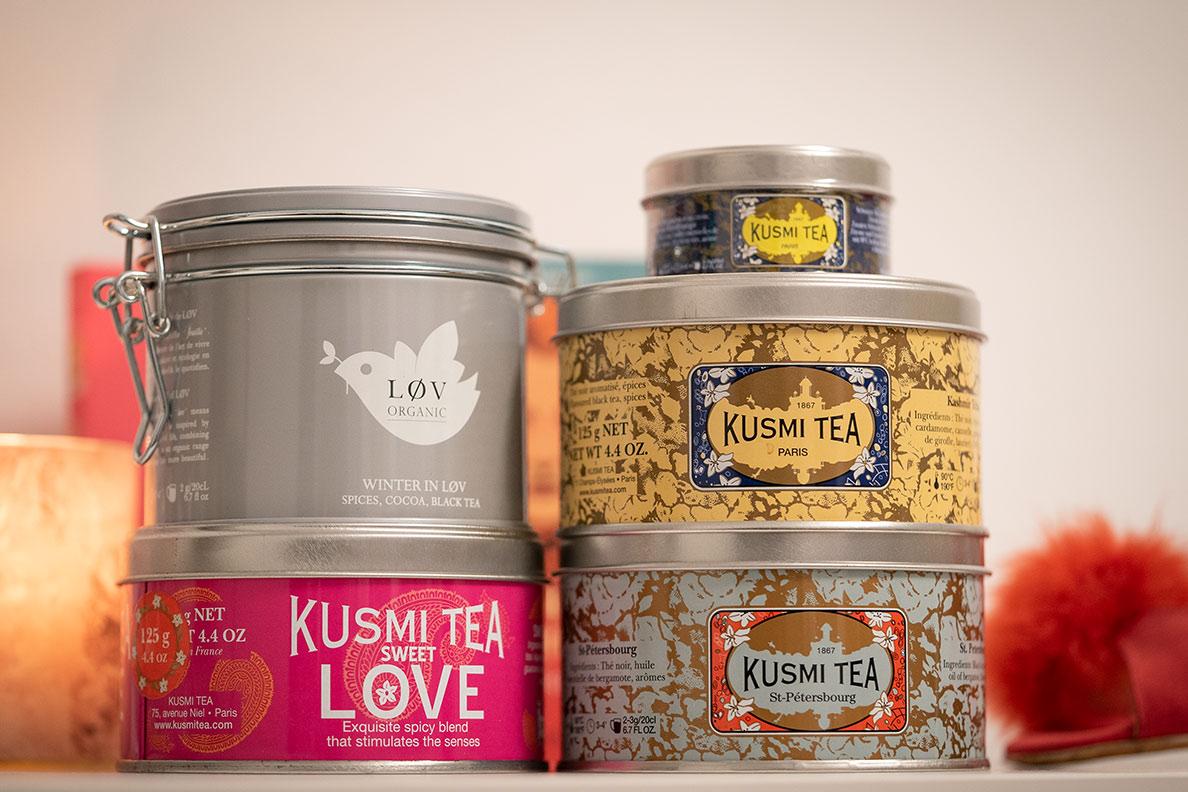 Geschenkidee zum Valentinstag: Leckere Tees von Kusmi und Lov Organic