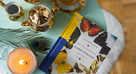 Vintage Tea Time mit den 50 schönsten Schmetterlingen der Welt
