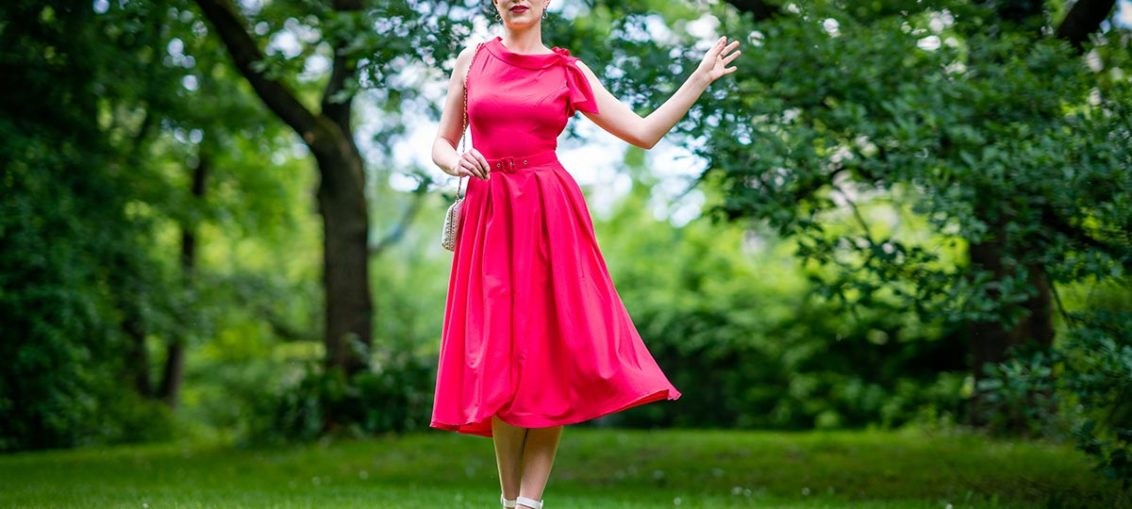 The colours of spring and the Thelsie-Coral Dress by Miss Candyfloss