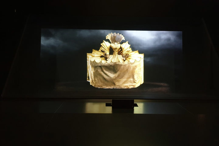 The multimedia staging of MacBeth at the Kunsthalle München