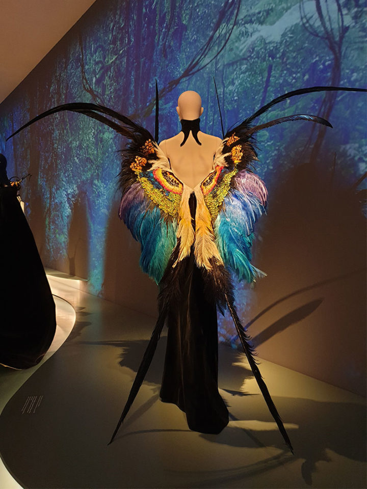 The butterfly dress by Thierry Mugler at an exhibition in Munich