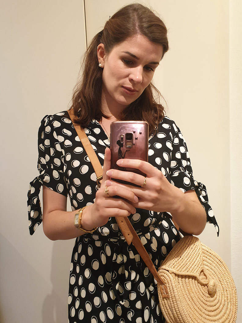 Mirror selfie: RetroCat with a summer dress by The Seamstress of Bloomsbury