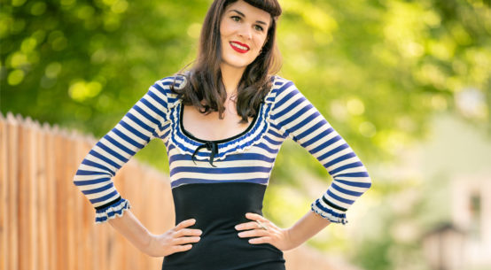 A cheeky Pin-up Look for Late Summer