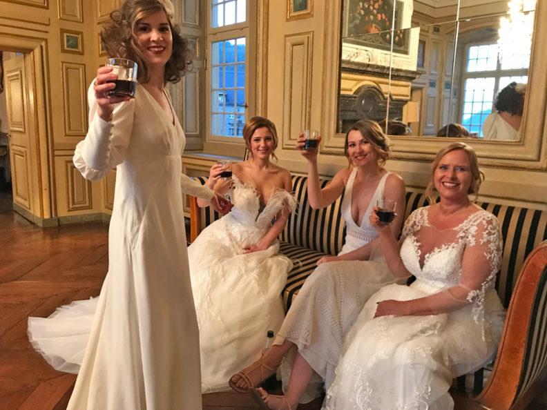 Die schönste Braut - Finale: Sandra aus München und ihre Mitbräute in Brautkleidern