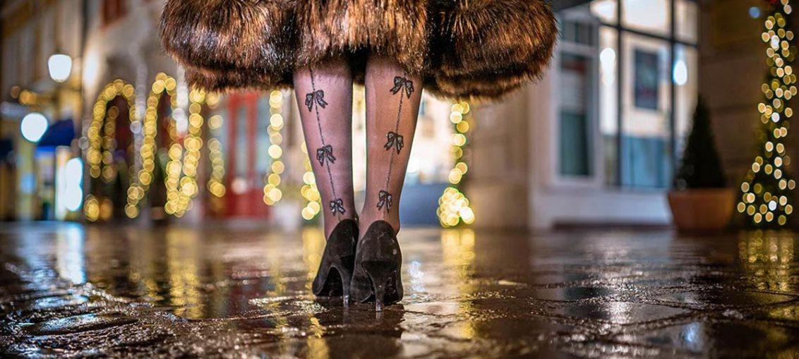 Weihnachts-Strumpfhosen & wie Du sie stylst
