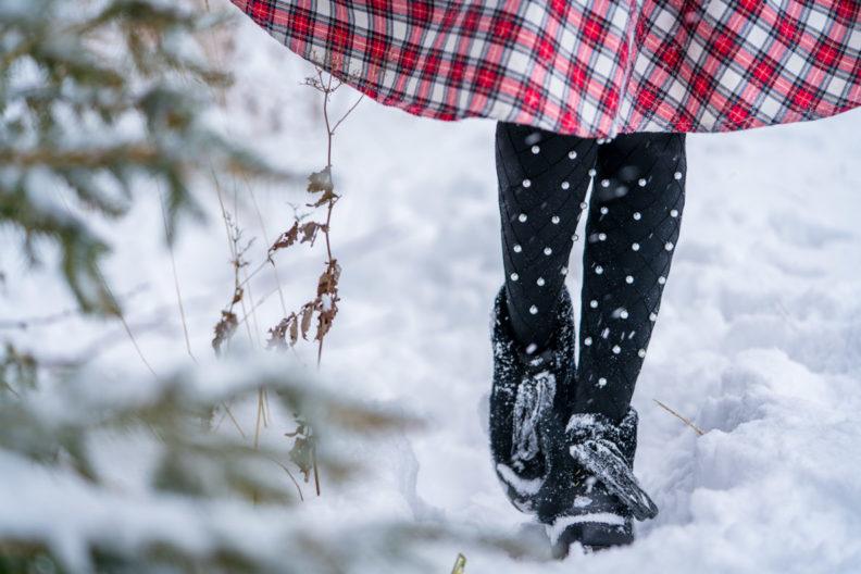 Röcke und Kleider im Winter tragen: RetroCat mit Thermostrumpfhosen