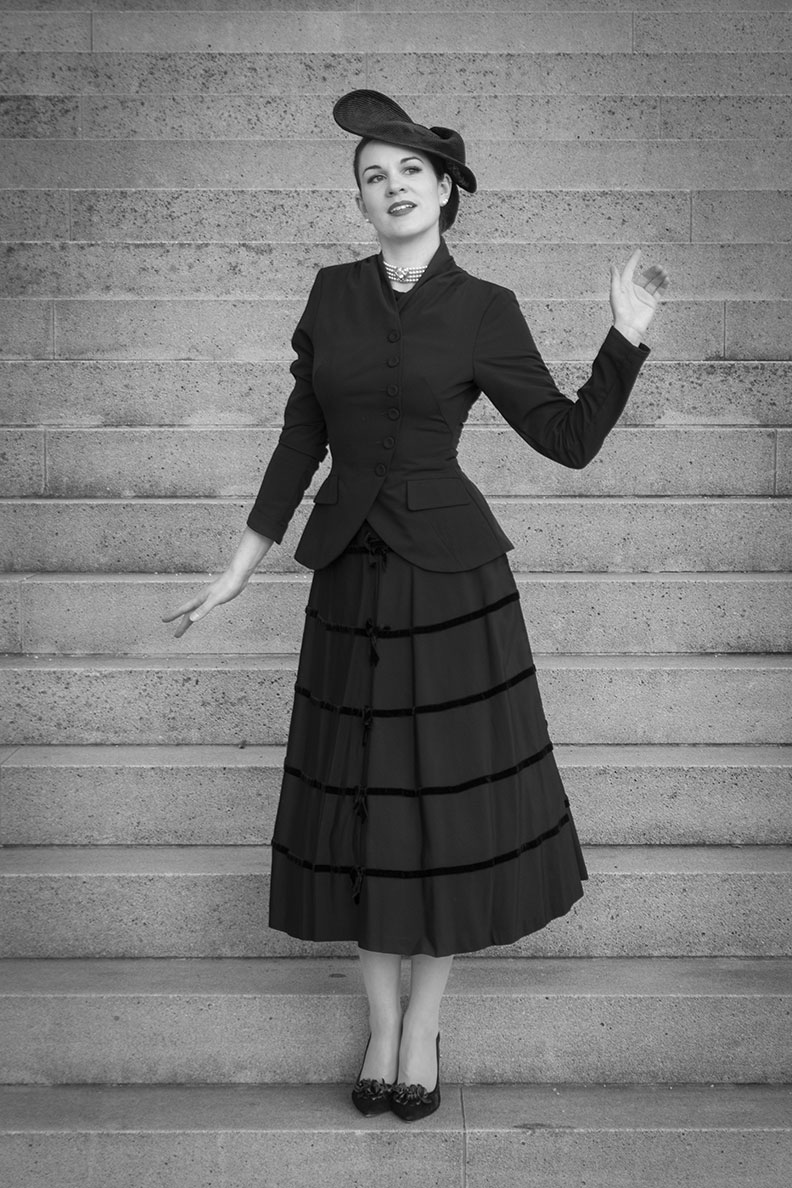 RetroCat wearing a black retro blazer by Miss Candyfloss