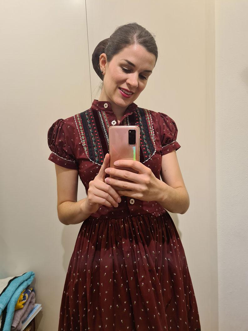 RetroCat wearing the Gretl dress by Lena Hoschek