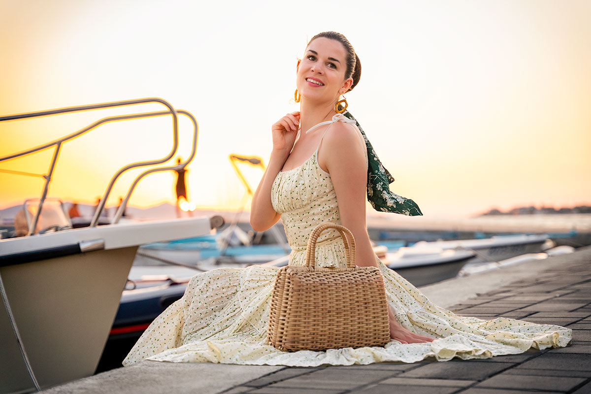 Enjoying the last few Summer Days with a yellow Dress by Ginger Jackie
